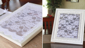 lace picture frame