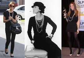 pearls and black
