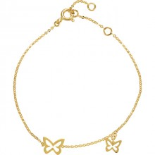 "Butterfly Design 7"" Bracelet"