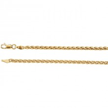 Wheat Diamond-Cut Chain 2mm