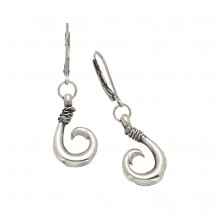 Sterling Silver Circle Hook Earrings