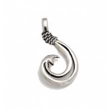 Sterling Silver Open Center Circle Hook