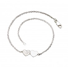 Double Solid Hearts Anklet