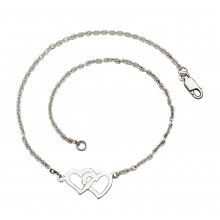 Double Open Hearts Anklet