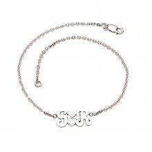 Initials With Hearts Anklet