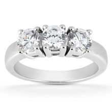 Three Stones  Round Engagement Rings