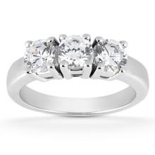 Three Stones  Round Engagement Rings
