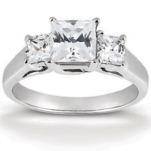 Engagement Rings  Three Stones  Princess