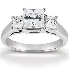 Engagement Rings  Three Stones  Princess