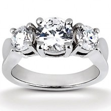 Engagement Rings  Three Stones  Round