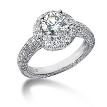 Halo Round Engagement Rings
