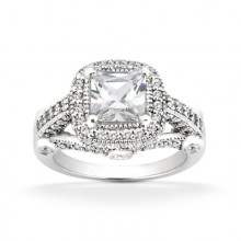 Halo Princess Engagement Rings