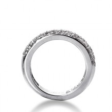 Round Pave Set Wedding Bands