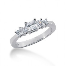 Princess Prong Set Wedding Bands