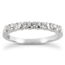 Round Bar Setting Wedding Bands